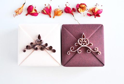 Elegant Origami and Quilling Gift Boxes by ReverseCascade