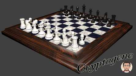 Low poly chess set by Cryptogene