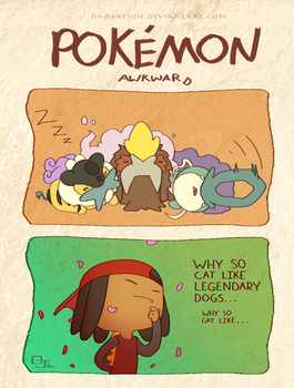 Pokemon Awkward: Legendary Cats? by DarkKenjie