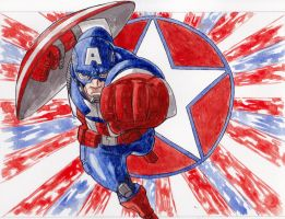 Avengers Assembled: Captain America by BluBoiArt