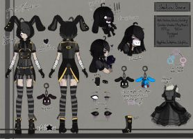(FNAF GIJINKA) .:Shadow Bonnie Ref Sheet:. by Ask-TheFazSquad