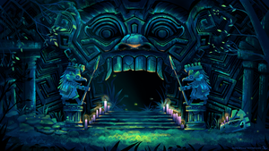 Ancient Ruins Temple Entrance Concept Art by SylviaRitter