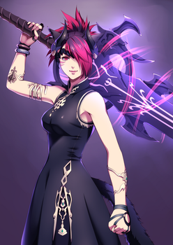 FFXIV character Commission 04 by aleph18