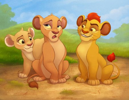 Kion and the Girls by autogatos
