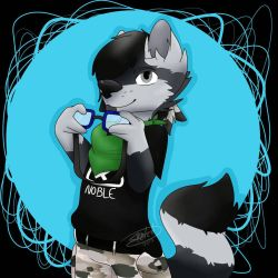 Check out my goggles. by HunterDarkWolf