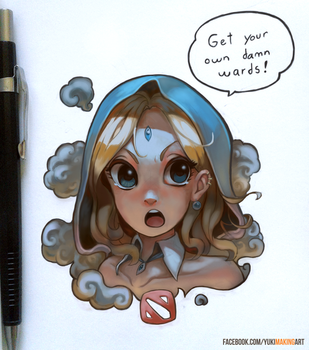 Crystal Maiden gets sick of it by yukionetwo