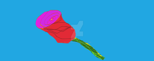 RED ROSE ON BLUE 2010 by raynichols