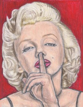 Marilyn Monroe says shh by gagambo