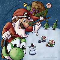 Santa Mario Clause by CherryIsland