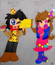 Party boy charlie and party girl caroline by Applejack14