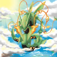 Mega Rayquaza by InfinitePieces