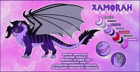 Xamorah Feral Reference Sheet by XamorahLunaris