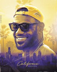 Lebron James Lakers NBA Wallpaper / Poster by skythlee