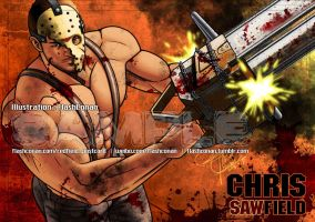 Chris Redfield is Not Red 3-3:Chris Sawfield by FlashConan