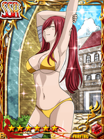 Fairy Tail Card - Erza bikni by EcchiAnimeEdits