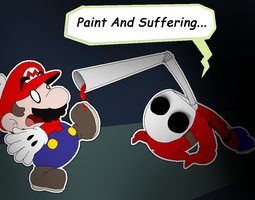 Paper Mario and the Shunned Guy by Rotommowtom