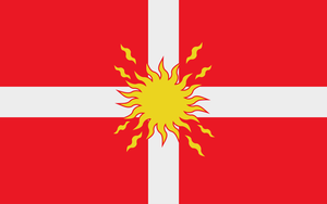 Oriflamme - Flag of the Holy Frankish Empire by Tonio103