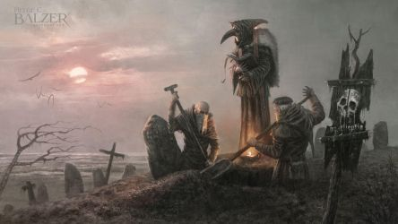 Black Death - Production Painting by helgecbalzer