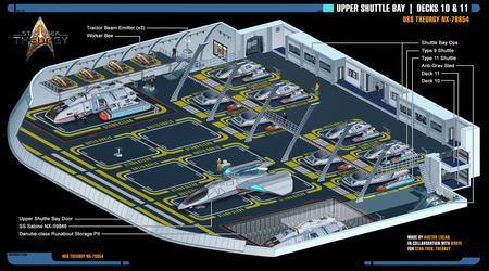 Upper Shuttle Bay | Star Trek: Theurgy by Auctor-Lucan