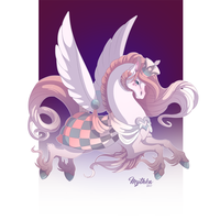 Queen of Hearts Pegasus #29 by Mythka