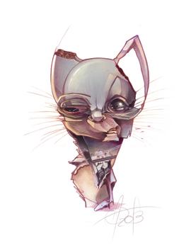 cat balloonist-Smell-O-Scope by maryvirgin