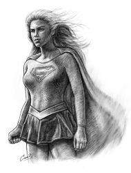 Supergirl by cundrawan