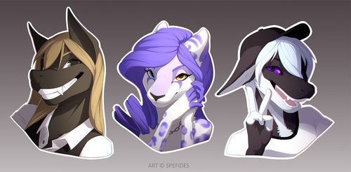 Bust commissions by SpeFides