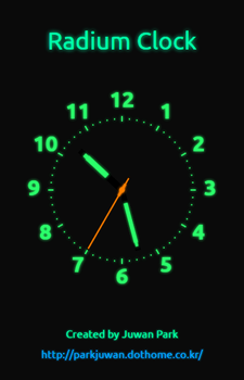 Radium Clock Webapp by The-Dreaming-Boy-88