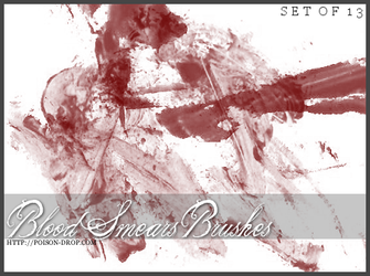 Blood Smear Brushes by poisondropstock