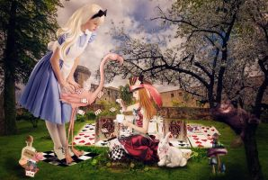 Alice's Spring Surprise Tea Party by AusWolf666