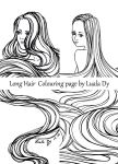 Longhair Colouring Page by LualaDy