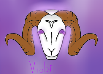 Violet Goat by KawaiiPinky07