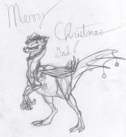 Christmas Raptor by Dragimal