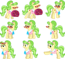 Ms. Peachbottom Vectors Set 1 by Jeatz-Axl