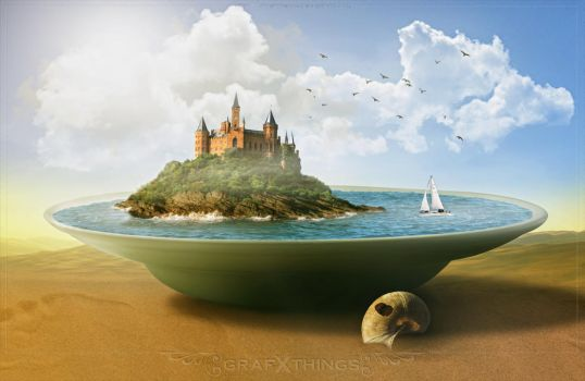 Tutorial Castle Island On The Plate by rafy A by GrafXthings