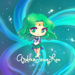 Sailor Neptune Chibi Sticker by Kairui-chan
