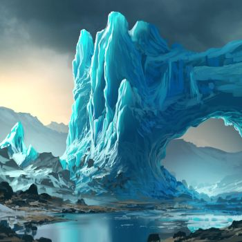 Glacier Sketch by arcipello
