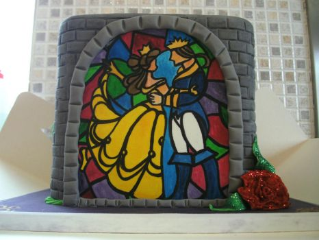 Beauty and the Beast Cake by gertygetsgangster