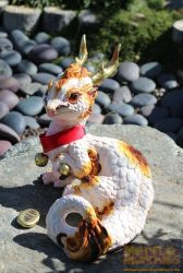 Maneki Neko Lucky Chinese dragon by The-SixthLeafClover