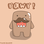 Mustache Domo by YoungDoodler