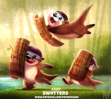Daily Paint 2177. Swotters by Cryptid-Creations