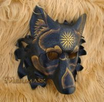 Sunburst Dire Wolf Mask by merimask