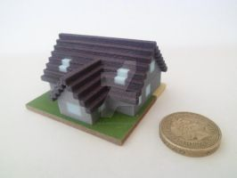 Freya's House- Mineways 3D Print by julie090995
