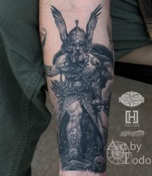 Frazetta-warrior-by-todo-ABT-Tattoo by TodoArtist