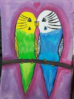 budgie love by TaitGallery
