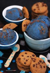 Homemade Cookie Monster Ice Cream by theresahelmer