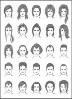 Men's Hair - Set 12 by dark-sheikah
