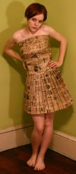 paper bag dress 5 by AttempteStock