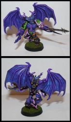 Slaanesh Possessed Marine by vyler