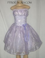 Purple formal dress by funkyfunnybone